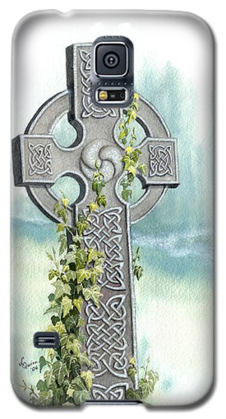 Celtic Cross With Ivy II Galaxy S5 Case