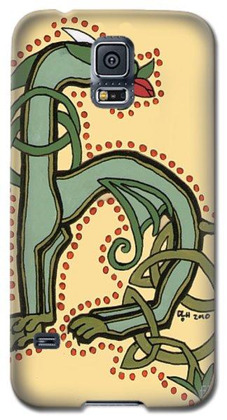 Celtic Dragon Manuscript H Galaxy S5 Case by Donna Huntriss