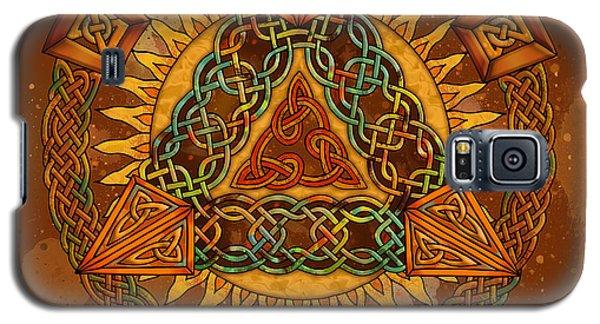 Celtic Pyramid Mandala Galaxy S5 Case by Kristen Fox