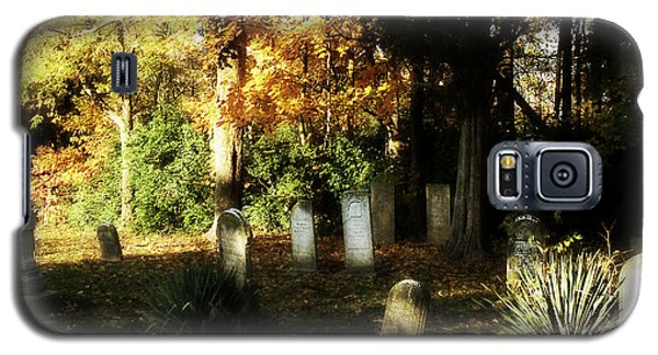 Galaxy S5 Case featuring the photograph Cemetery In The Morning by Cynthia Lassiter