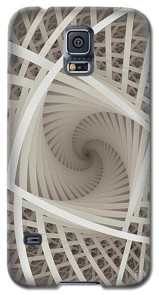 Centered White Spiral-fractal Art Galaxy S5 Case