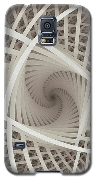 Centered White Spiral-fractal Art Galaxy S5 Case