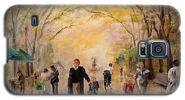Central Park Early Spring Galaxy S5 Case by Alan Lakin