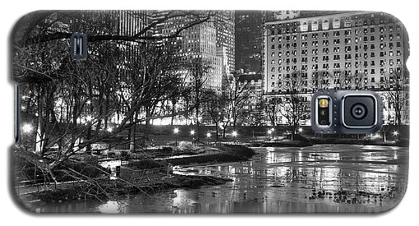 Central Park Lake Night Galaxy S5 Case