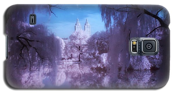 Central Park Lake Willows Color Galaxy S5 Case