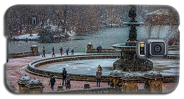 Central Park Snow Storm Galaxy S5 Case