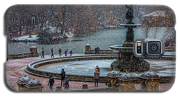 Central Park Snow Storm Galaxy S5 Case