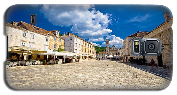 Central Pjaca Square Of Hvar Town Galaxy S5 Case by Brch Photography