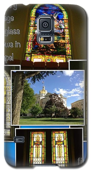 Galaxy S5 Case featuring the photograph Cetenary College Stained Glass Windows In Chapel by Becky Lupe