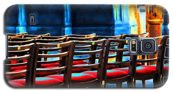 Chairs In Church Galaxy S5 Case by Oscar Alvarez Jr