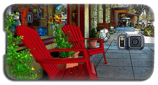 Chairs On A Sidewalk Galaxy S5 Case