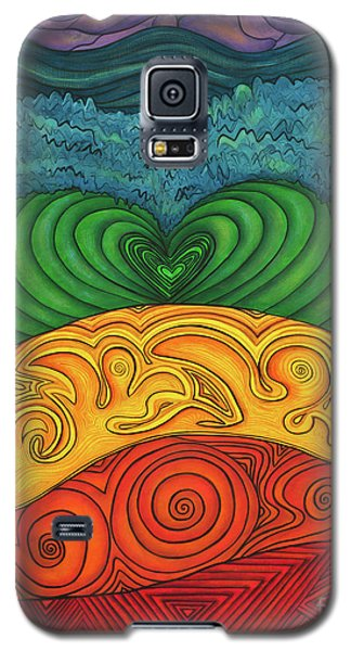 Galaxy S5 Case featuring the painting Chakra Ascension by Deborha Kerr