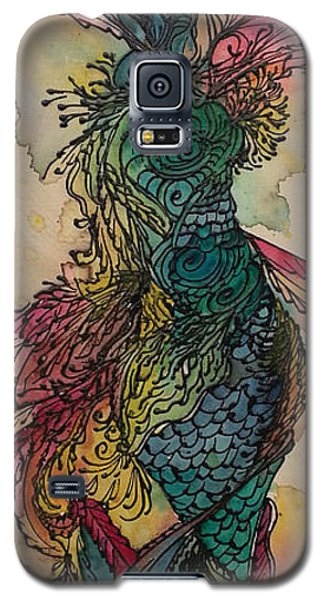 Galaxy S5 Case featuring the painting Chakra Mermaid by Christy  Freeman