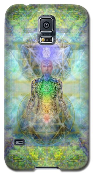 Galaxy S5 Case featuring the digital art Chakra Tree Anatomy In Chalice Garden by Christopher Pringer