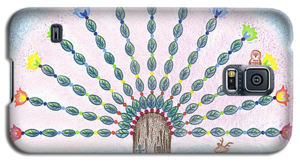 Galaxy S5 Case featuring the drawing Chakra Tree by Keiko Katsuta