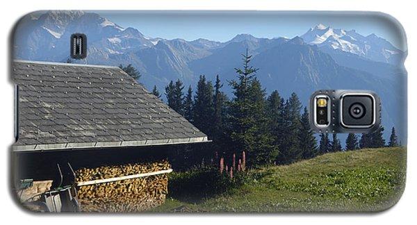 Chalet In The Swiss Alps Bettmeralp Switzerland Galaxy S5 Case by Matthias Hauser