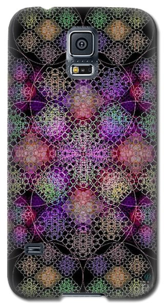 Galaxy S5 Case featuring the digital art Chalice Cell Rings On Black Dk29 by Christopher Pringer