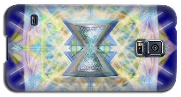 Galaxy S5 Case featuring the digital art Chalicell Matrix Rainbow Cross Of Light by Christopher Pringer