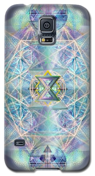 Galaxy S5 Case featuring the digital art Chalicells Electric Sparkling Vortices Of Light II by Christopher Pringer