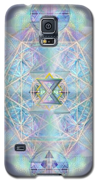Galaxy S5 Case featuring the digital art Chalicells Electro Dynamic Vortices Of Light by Christopher Pringer