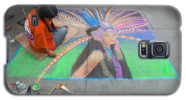 Galaxy S5 Case featuring the photograph Pasadena Chalk Art - Street Photography by Ram Vasudev