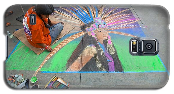 Pasadena Chalk Art - Street Photography Galaxy S5 Case