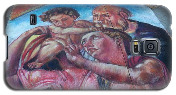Chalk Painting By Street Artist Galaxy S5 Case by Lingfai Leung