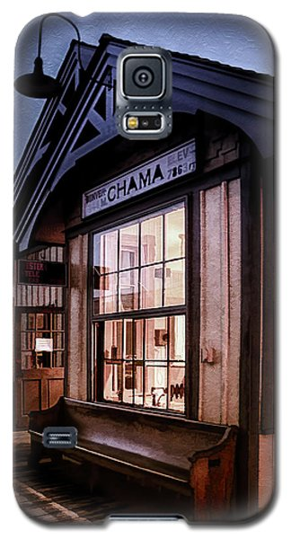 Galaxy S5 Case featuring the photograph Chama Train Station by Priscilla Burgers
