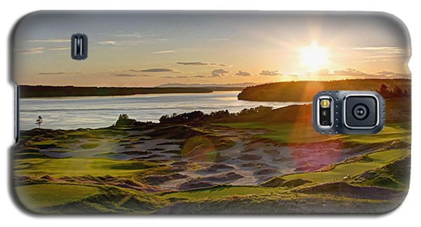 Chambers Bay Sun Flare - 2015 U.s. Open  Galaxy S5 Case by Chris Anderson