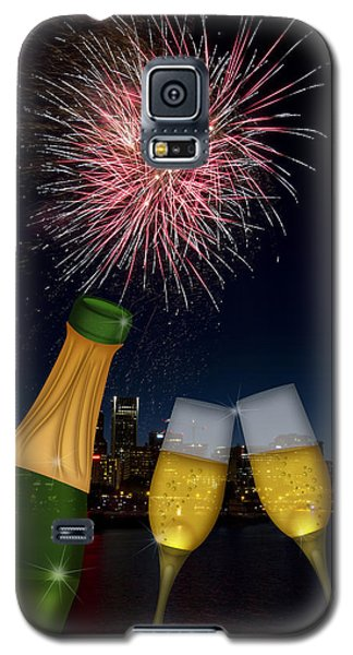 Champagne Toast With Portland Oregon Skyline Galaxy S5 Case