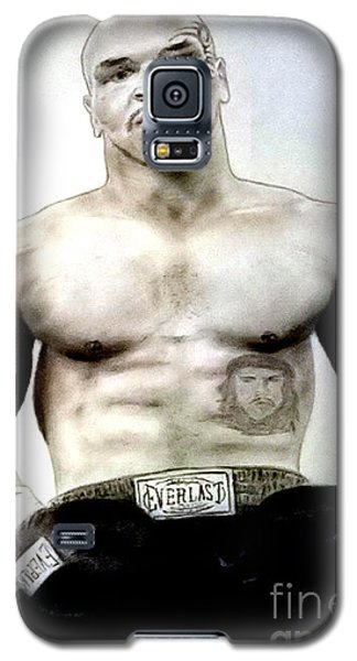 Galaxy S5 Case featuring the pastel Champion Boxer And Actor Mike Tyson by Jim Fitzpatrick