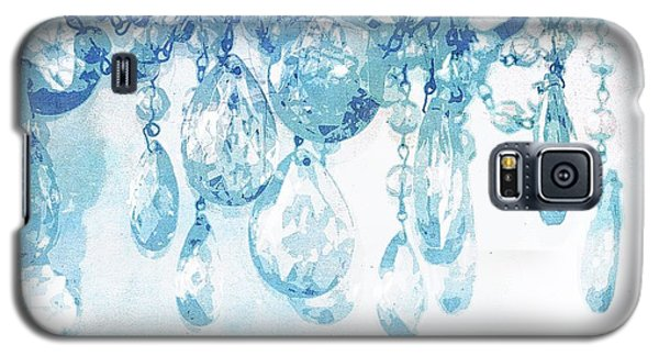 Chandelier Crystals In Blue Galaxy S5 Case by Suzanne Powers