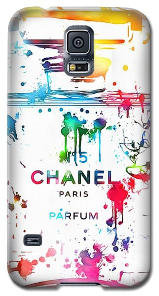 Chanel Number Five Paint Splatter Galaxy S5 Case