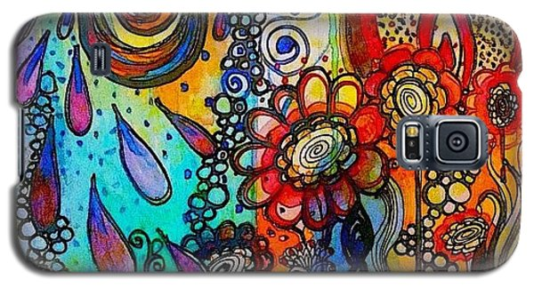 Changes ... #watercolor #doodle #fun Galaxy S5 Case by Robin Mead