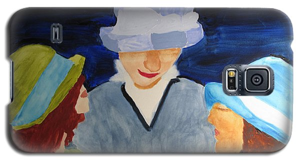 Galaxy S5 Case featuring the painting Chapeaux Trois by Sandy McIntire