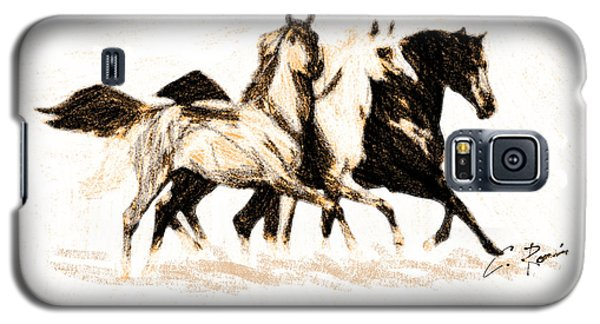 Charcoal Horses Galaxy S5 Case