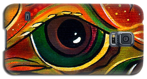 Galaxy S5 Case featuring the painting Charismatic Spirit Eye by Deborha Kerr