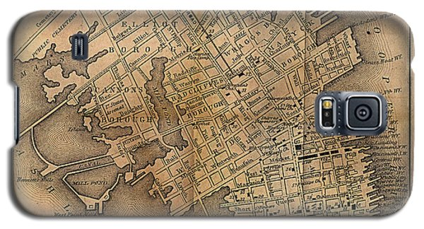 Galaxy S5 Case featuring the painting Charleston Vintage Map No. I by James Christopher Hill