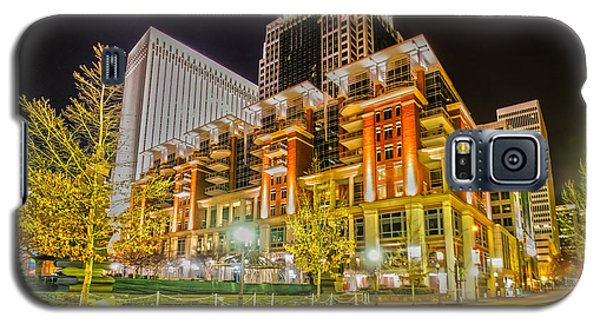 Charlotte City Skyline Night Scene Galaxy S5 Case