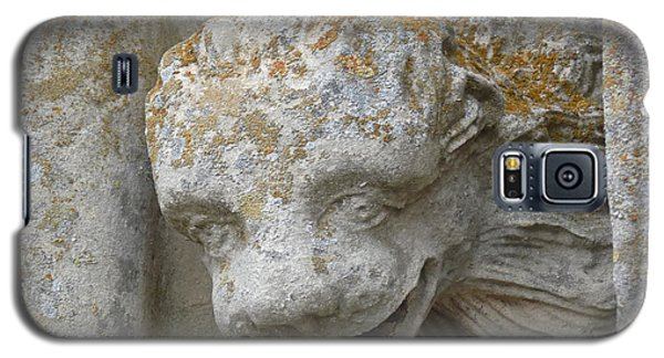Galaxy S5 Case featuring the photograph Chartres Cathedral Carved Head by Deborah Smolinske