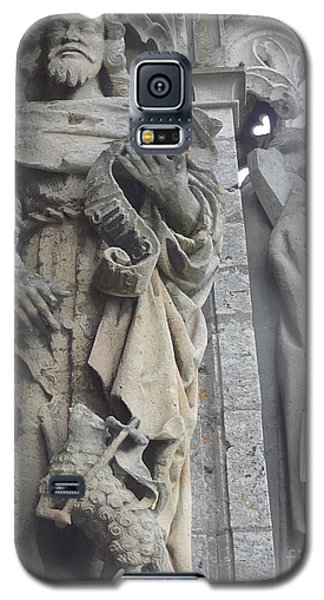 Galaxy S5 Case featuring the photograph Chartres Cathedral Knight by Deborah Smolinske
