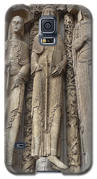 Galaxy S5 Case featuring the photograph Chartres Cathedral Saints by Deborah Smolinske