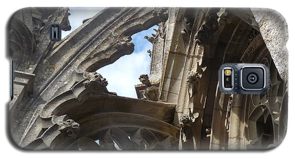 Galaxy S5 Case featuring the photograph Chartres Flying Buttress by Deborah Smolinske