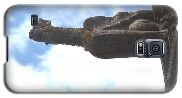 Galaxy S5 Case featuring the photograph Chartres Gargoyle by Deborah Smolinske
