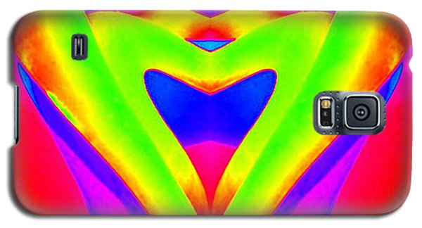 chartreuse Heart Galaxy S5 Case