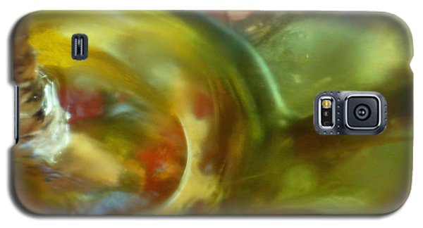 Galaxy S5 Case featuring the photograph Chartreuse Series Abstract Xiv by Ginny Schmidt