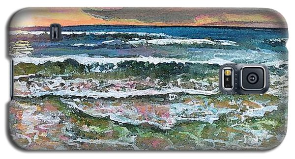 Galaxy S5 Case featuring the painting Chasing Chatham Beach Sunsets by Rita Brown