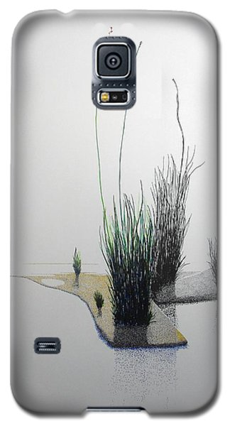 Galaxy S5 Case featuring the painting Chasm by A  Robert Malcom