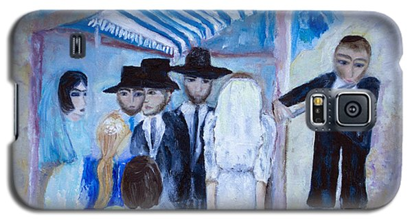 Galaxy S5 Case featuring the painting Chassidic Wedding by Aleezah Selinger