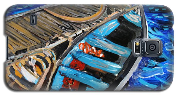 Galaxy S5 Case featuring the painting Chatham Blue by Michael Helfen